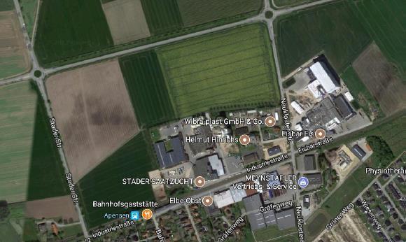Luftbild Gewerbegebiet Apensen©Samtgemeinde Apensen